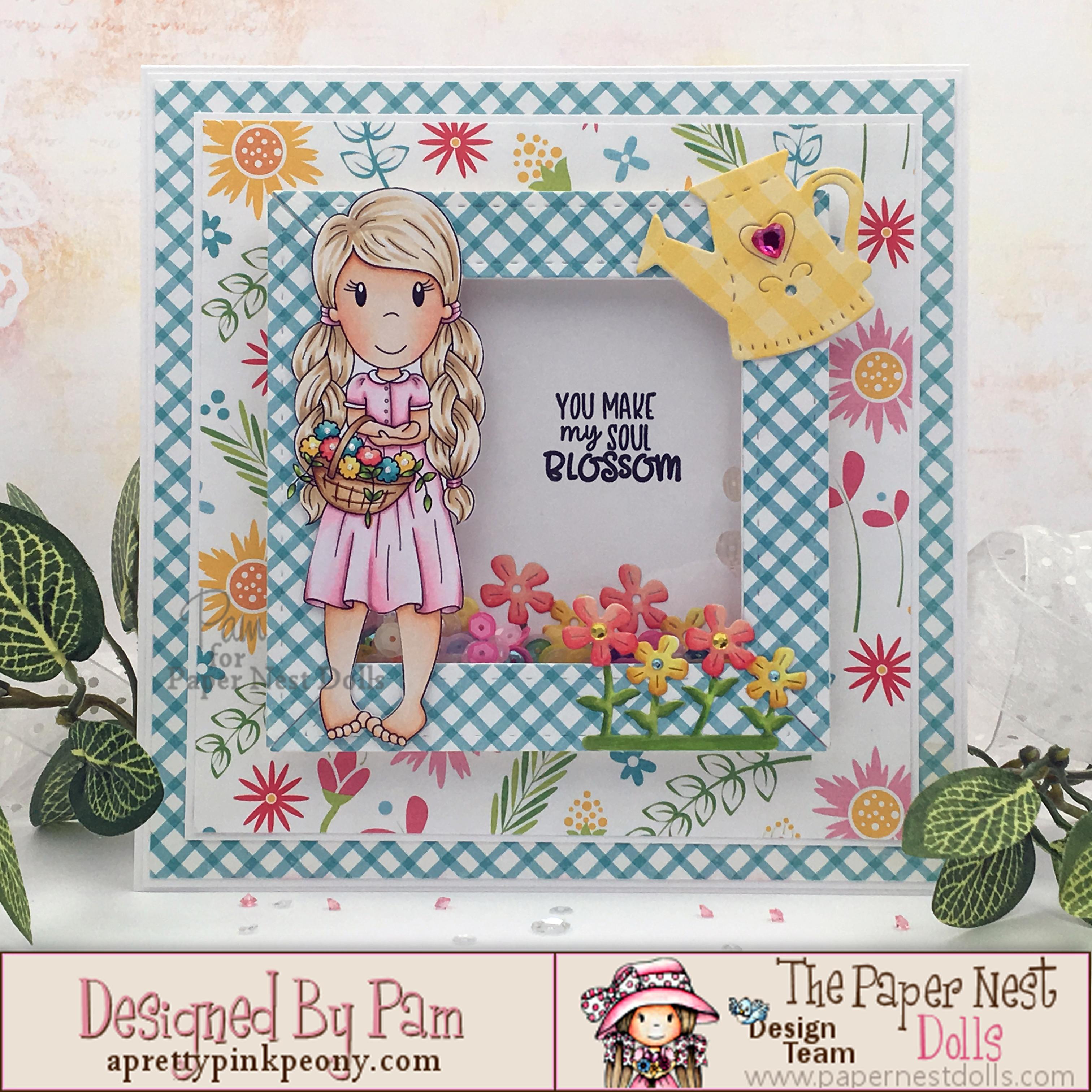 ellie with flower basket