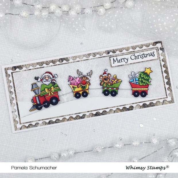 Pam_Oct-Special-Release_Santas-Train_Slimline-Postage-Stamp-Die