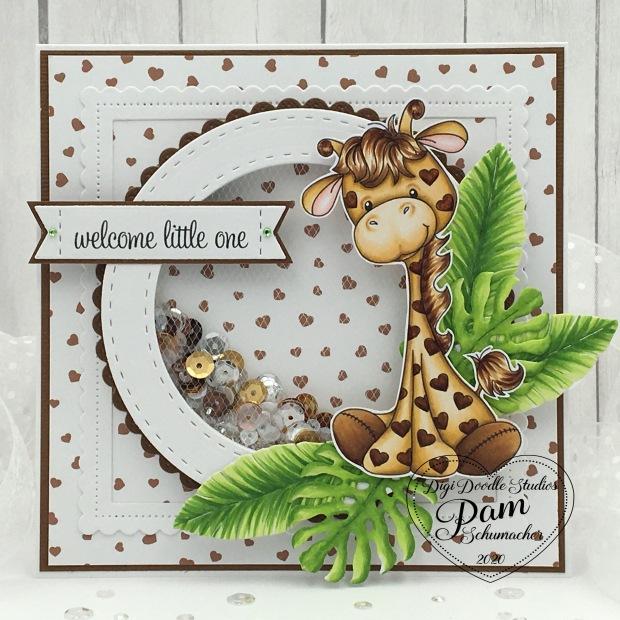Digi Doodle Giraffe